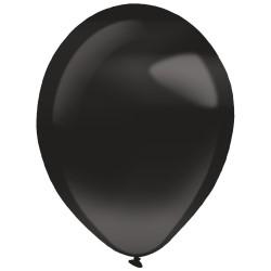 10 ballons de baudruche noirs