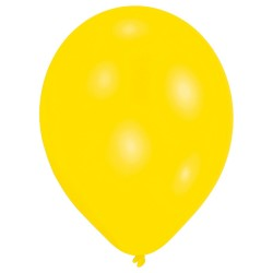10 ballons de baudruche jaunes