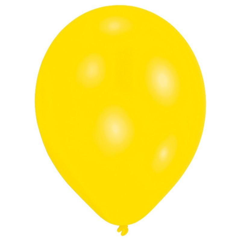 10 ballons de baudruche jaunes 30 cm