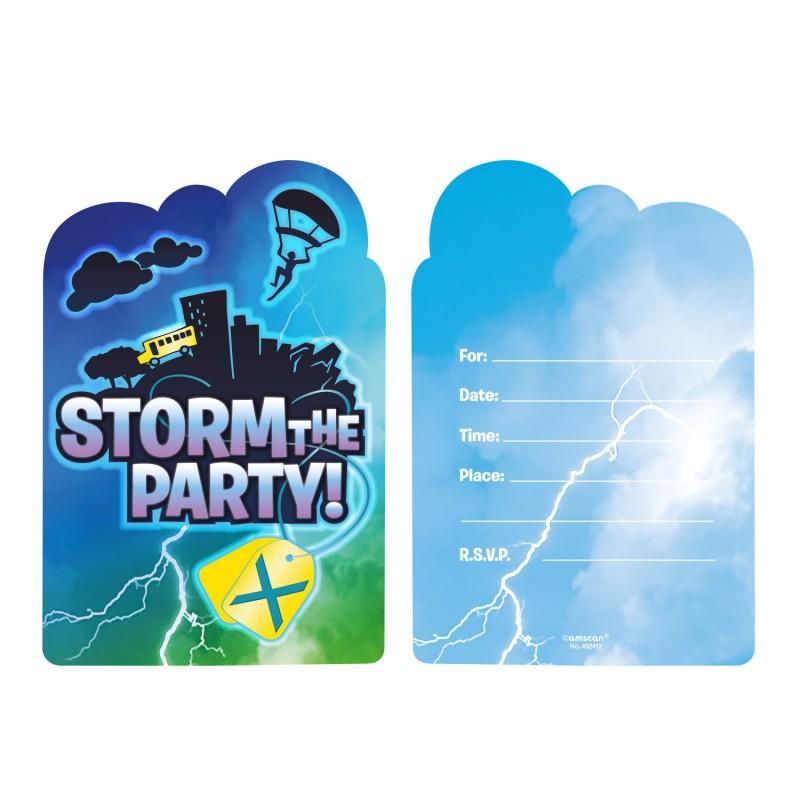 Carte d'invitation Fortnite