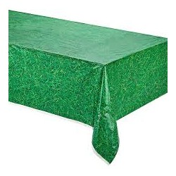 Nappe verte en plastique effet herbe