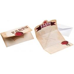 8 Cartons d'invitation Chevalier