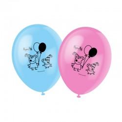 6 ballons en latex Peppa Pig