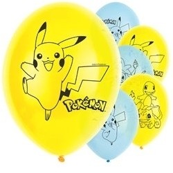 6 ballons latex Pokémon™ 30 cm