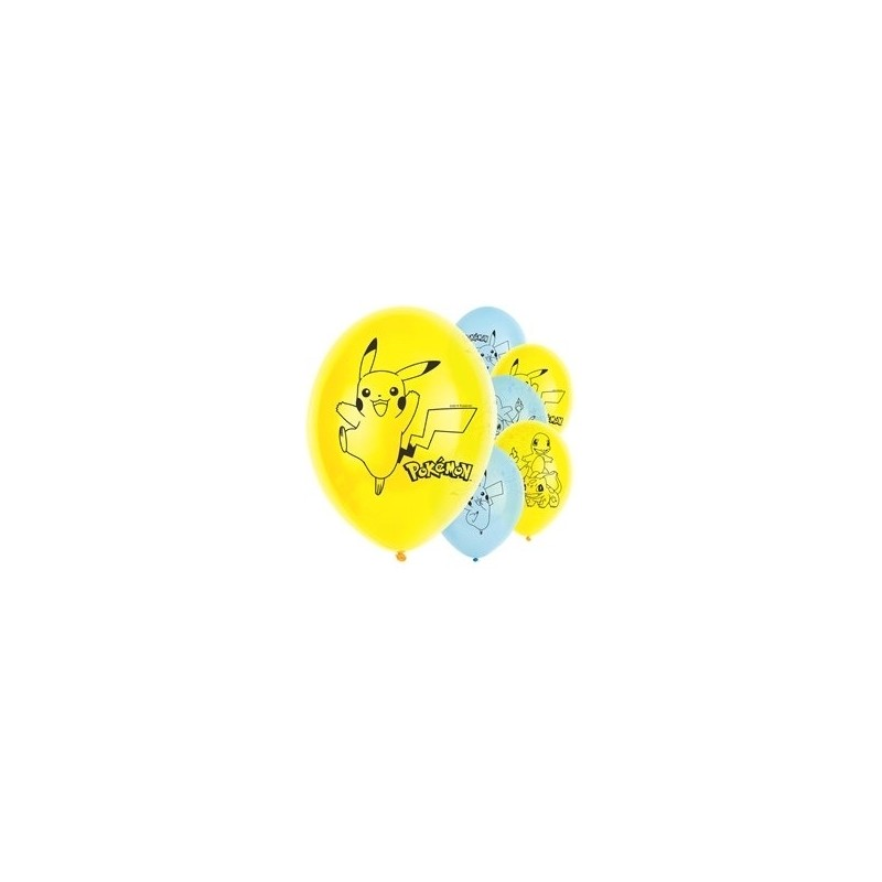 6 ballons latex Pokémon™ 30 cm