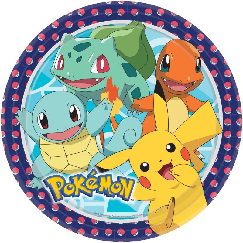 8 Assiettes Pokémon