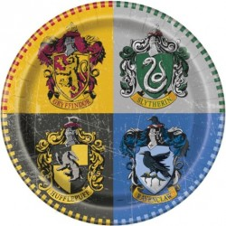 8 Assiettes en carton Harry potter™ 23 cm