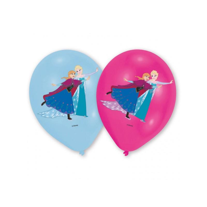 6 Ballons de baudruche La Reine des Neiges