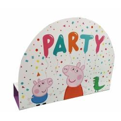 8 Invitations et Enveloppes en papier Peppa Pig