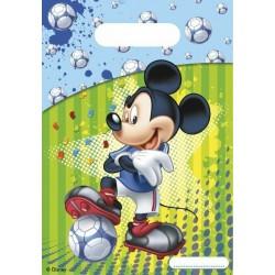 6 Sacs cadeaux Mickey Foot