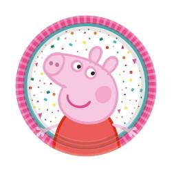 8 assiettes à dessert Peppa Pig