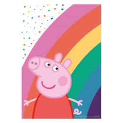 8 sacs cadeaux Peppa Pig pour anniversaire et fête