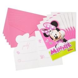 6 cartons invitations anniversaire Minnie