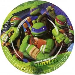 8 Assiettes en carton Tortue Ninja