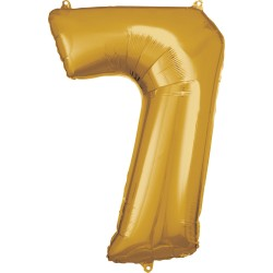 Ballon géant chiffre 7 doré