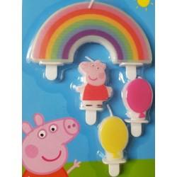 4 Bougies d'anniversaire Peppa Pig