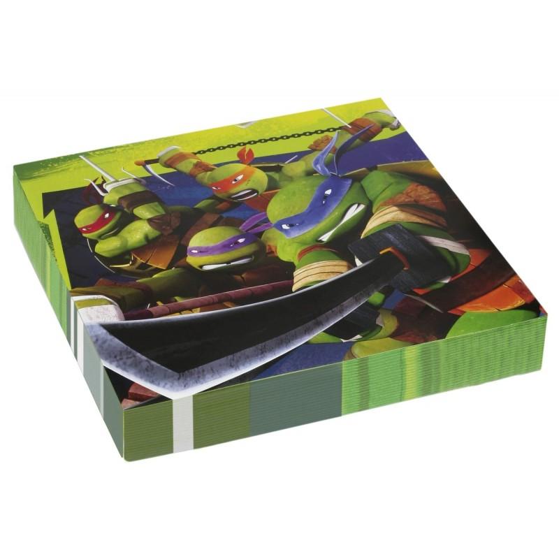 20 Serviettes en papier Tortue Ninja