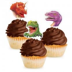 12 décors Dinosaure ( 7 cm ) pour cupcakes