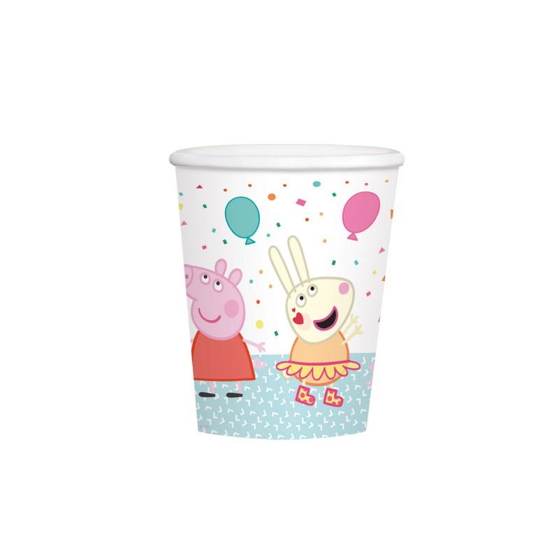 8 gobelets en carton Peppa Pig 250 ml