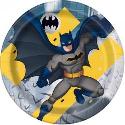 8 Assiettes en carton Batman
