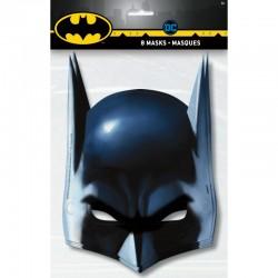 8 masques en carton BATMAN