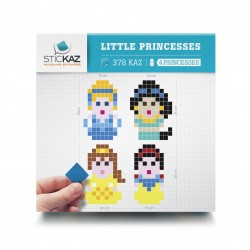Les princesses Disney en pixel - Stickers muraux