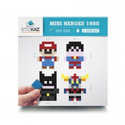 Box Mini Heroes 1980 - Stickers muraux